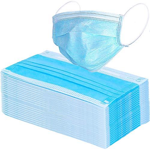 100 Pcs Disposable Earloop Face Masks (Blue)