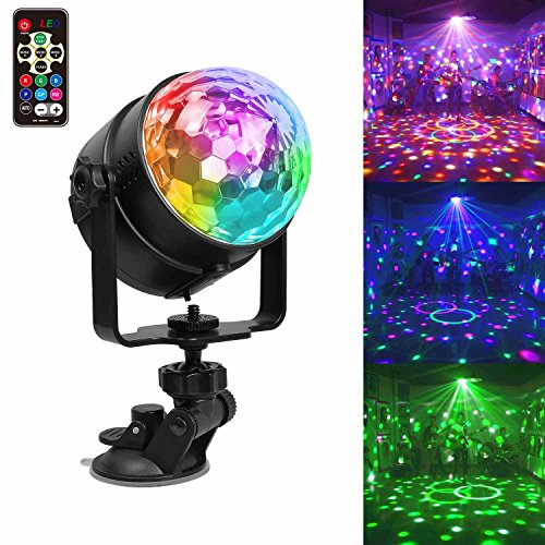 USB Wiederaufladbar Partylicht LED Discokugel Partybeleuchtung, 7 Modi Disco Glühbirne sprachsteuerte Party Deko Licht mit Fernbedienung Kinder Geschenk