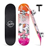 Beleev Skateboards for Beginners, 31'x8' Complete Skateboard for Kids Teens Adults, 7 Layer Canadian...
