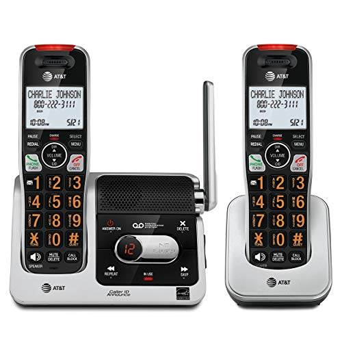 AT&T BL102-2 DECT 6.0 2-Handset Cordless Phone for...