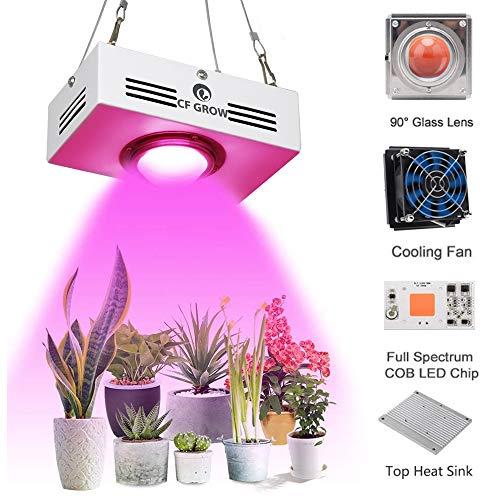 COB LED Pflanzenlampe Vollspektrum150W Pflanzenlicht LED Wachstumslampe Rot&Blau Pflanzenleuchte für Zimmerpflanzen Mini Größe Hoher PAR Ausgang