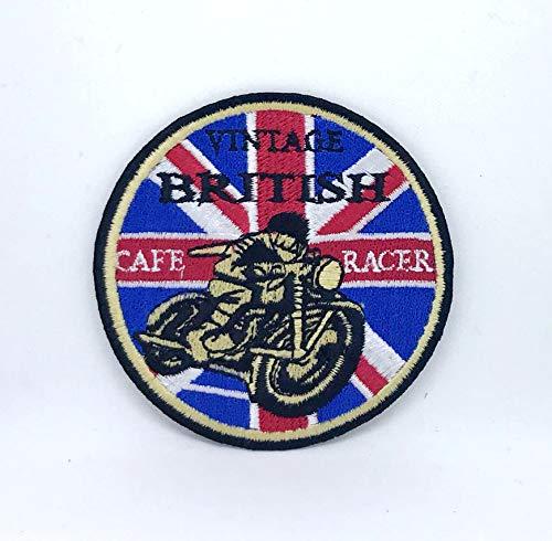 Parche bordado de Cafe Racer Union Jack para coser y planchar