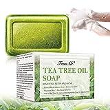 Sapone Naturale, Saponetta, SaponeAntiAcne,Sapone Naturale con Tea Tree Oil, Sapone al Viso, Acne Fighting, Ammorbidire la Pelle, Anti-Blemish