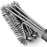 Tarvol BBQ Grill Brush Stainless Steel 18' Barbecue Cleaning Brush w/Wire Bristles & Soft Comfortable Handle - Perfect Cleaner & Scraper for Grill Cooking Grates