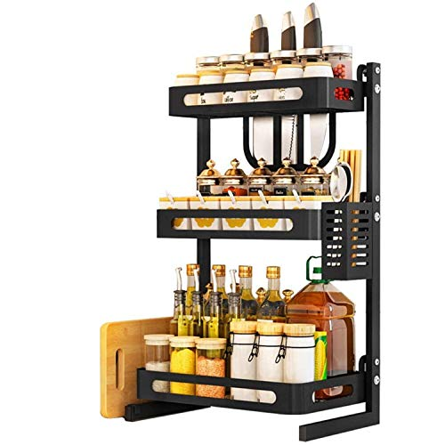 TOOLKISS Spice Rack Organizer, 3-Tier Bathroom Countertop Organizer, Stainless Steel Kitchen Rack Organizer Counter...