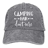 HHNLB Unisex Camping Hair Don t Care 1 Vintage Jeans Baseball Cap Classic Cotton Dad Hat Adjustable Plain Cap Gray