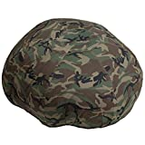 Oversized Kids Comfy Bean Bag Chair in Camouflage Cotton Fabric