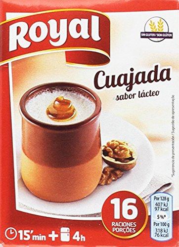 Royal - Cuajada - Sabor lácteo - 16 raciones - Pack de 10