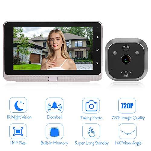 Tangxi Campanello Video Wireless,Spioncino Elettronico Digitale,Peephole Viewer Schermo LCD 5 Pollici+Videocamera HD 1MP+Visione Notturna IR+per Porta 40-110mm,per Sistema di Sicurezza Domestica
