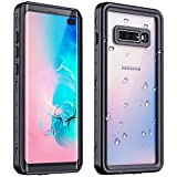 RedPepper Galaxy S10 Plus Waterproof Case, Protective Clear Cover with Built-in Screen Protector, Support Wireless Charging IP68 Certified Waterproof Shockproof Case for Samsung Galaxy S10 Plus
