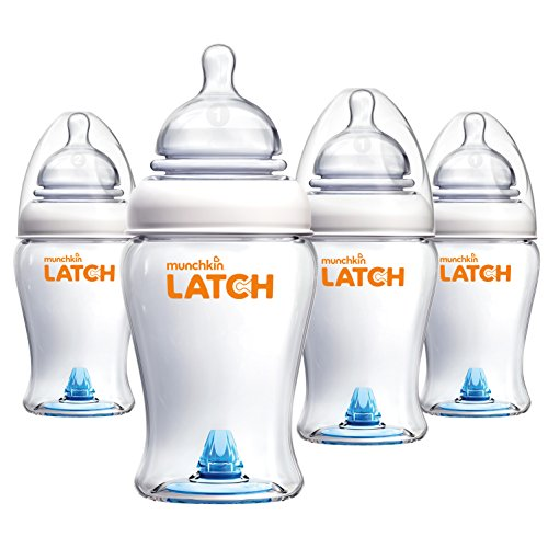 Munchkin Latch BPA-Free Baby Bottle, 8 Ounce, 4...