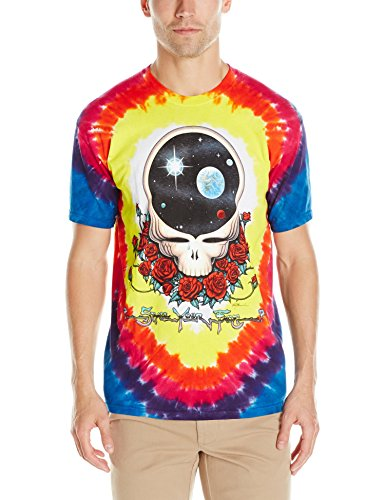 Liquid Blue Men's Grateful Dead Space Your Face Short Sleeve T-Shirt,Multi,Medium (Apparel)