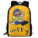 YunDon 3D Printing Adult Backpack,Jeffy School Bag,Knapsack,Rucksack