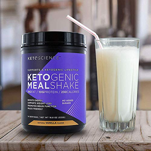 Keto Science Ketogenic Meal Shake Vanilla Dietary Supplement, Rich in MCTs and Protein, Paleo Friendly, Weight Loss, 14 servings, 20.7 oz Packaging May Vary 9