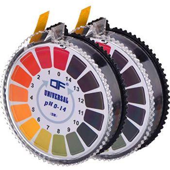 Jovitec universal pH test paper strip roll, pH full range 0-14, 2 rolls, 5 m / roll