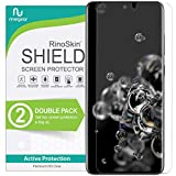 (2-Pack) RinoGear Screen Protector for Samsung Galaxy S20 Ultra (Fingerprint ID Compatible) Case Friendly Galaxy S20 Ultra Screen Protector Accessory Full Coverage Clear Film