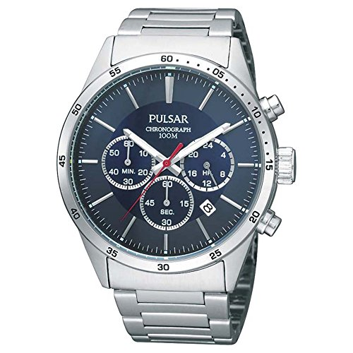 Pulsar Herren Analog Quarz Uhr mit Edelstahl Armband PT3003X1
