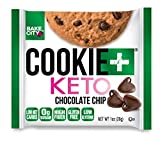 Bake City Cookie Plus Keto   1oz Chocolate Chip Cookies (12 pack), Gluten Free, 0g Sugar, Only 1.5g Net Carbs, Good Fats, 5g Protein, Kosher, No Artificial Flavors