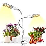 LED Grow Light for Indoor Plants, Relassy 15000Lux Sunlike Full Spectrum Grow Lamp, Dual Head...