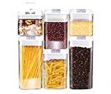 DRAGONN 6 Piece Airtight Food Storage Container Set, Keeps Food Fresh & Dry - Durable Plastic - BPA-Free (6 Piece Set)