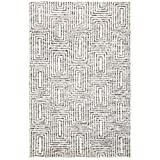 Safavieh Tibetan Collection TIB608Z Hand-Knotted Wool Area Rug, 6' x 9', Black/Ivory