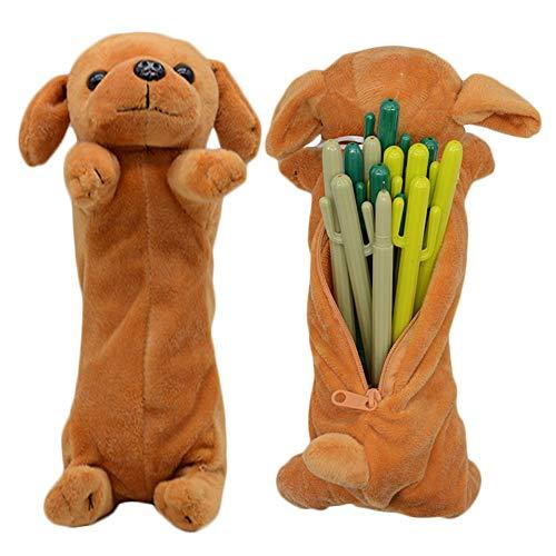 Sacchetto della penna della matita di figura del cane 3D, regali molli svegli del giocattolo della...