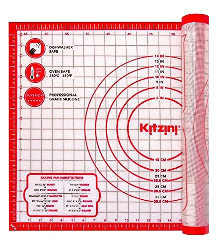 Easy Clean Kneading Mat With Measurements