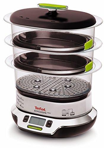 Tefal VS4003 Vitacuisine Compact Vaporiera con Funzione Vitamine Plus, Display Digitale, Ricettario...