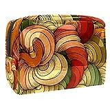 Bolsa de maquillaje portátil con cremallera bolsa de aseo de viaje para mujeres práctico almacenamiento cosmético bolsa de hilo rizado