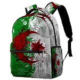 Sac à dos de voyage décontracté avec drapeau de l'Algérie pour femme,...