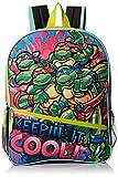 Teenage Mutant Ninja Turtles Little Girls Keepin It Cool 16' Backpack, Green/Pink, 16