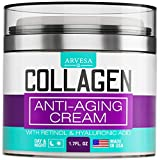 Collagen Cream - Anti Aging Face Moisturizer - Day & Night Wrinkle Cream - Boosted with Hyaluronic Acid & Vitamin A+E - Natural Firming Cream for Fine Lines & Wrinkles - Made in USA (1.7 FL OZ)