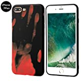 Seternaly Creative Thermal Sensor Cases Cool Cover for iPhone 7 Plus/iPhone 8 Plus [5.5'] Black to Orange