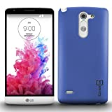 LG G3 Stylus Case, Back Cover Protector [CoverON Slender Fit Series] Slim Shell Style with Enhanced Rubberized Matte Grip [Hard Thin Plastic Shield] Phone Cover Case for LG G3 Stylus - Blue