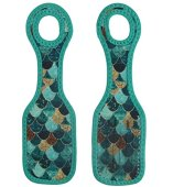 """ARTOVIDA Artists Collective Neoprene Luggage Tags, """"Really Mermaid"""" by Monika Strigel (Germany)   Sturdy ID Name Tags for Checked Suitcases and Carry On Bags"""
