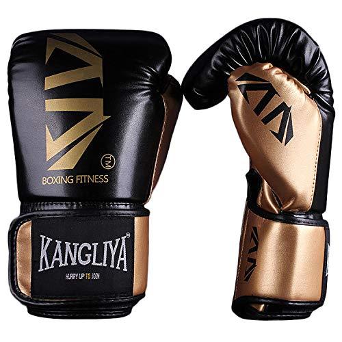 FitTrek Guantoni da Boxe - Boxing Gloves 6oz 8oz 10oz 12oz - Guanti da Box per Sparring, Muay Thai,...