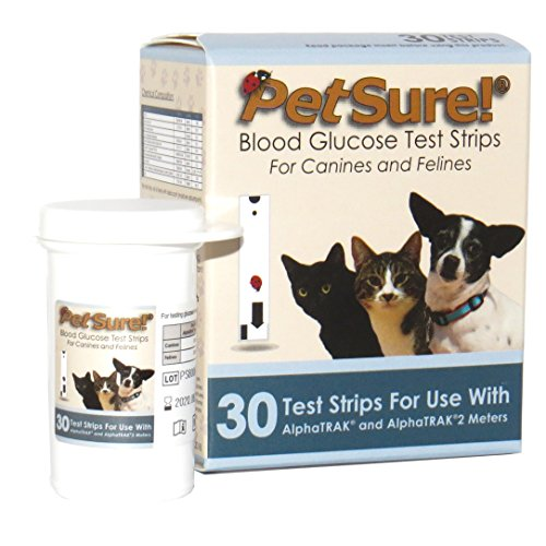 PetSure! Test Strips 30ct - Blood Glucose Testing for Cats and Dogs - Works with AlphaTrak and AlphaTrak2 Meters