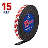 Magnetic Tape, 15 Feet Magnet Tape Roll (1/2'' Wide x 15 ft Long), with 3M Strong Adhesive Backing. Perfect for DIY, Art Projects, whiteboards & Fridge Organization