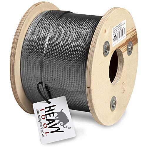HEAVYTOOL® - Cable de alambre (acero inoxidable, 2 mm, 7 x 7, dureza...