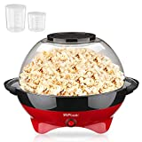 MVPower Machine à Popcorn 800W, Bol 5 L et Couvercle 2-en-1 Détachable, Revêtement Anti-adhésif...