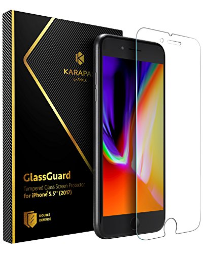 Anker KARAPAX GlassGuard iPhone 8 Plus / 7 Plus 用 強化ガラス液晶保護フィルム【5.5インチ対応 / 3D Touch対応 / 硬度9H / 飛散防止】