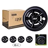 10L0L Golf Cart Wheel Covers Hub Caps (Set of 4), Compatible with EZGO...