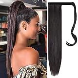 FESHFEN Hairpieces Extensiones de cabello Cola de caballo Extensiones de cabello sintético largo ...