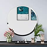 KOHROS Round Beveled Polished Frameless Wall Mirror for Bathroom, Vanity, Bedroom (24' Circle)
