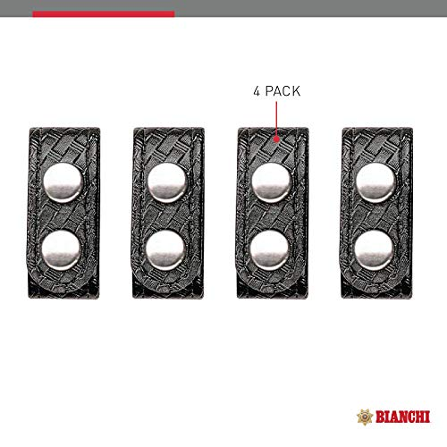 Bianchi AccuMold Elite 4-Pack 7906 Chrome Snap Belt Keepers