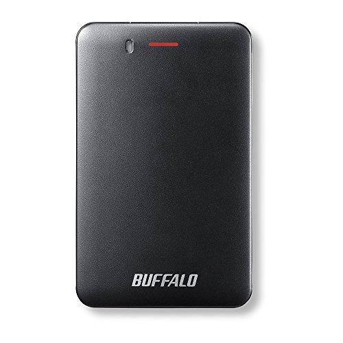 BUFFALO USB3.1(Gen1) 手のひらサイズ 小型ポータブルSSD 480GB ブラック SSD-PM480U3-B/N 【PlayStation4 ...