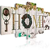 Biufo 5 Pieces Sweet Home Sign Wall Art Canvas Print Forever Love for Family Painting Pictures Living Room Decorations Flower Artwork, Framed 40' W x 20' H