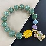 Feng shui pulsera piedra natural jade pulsera cheongsam colgante encanto ámbar...