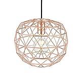 Light Society Caffrey Geometric Pendant Light, Rose Gold, Modern Industrial Lighting Fixture (LS-C135-RG)