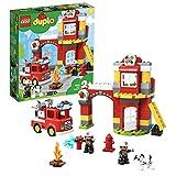 LEGO-DUPLO Rescue La caserne de pompiers Jeu de construction, 2 Ans et Plus, 76 Pièces 10903